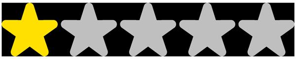 1 étoiles / 5