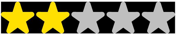 2 étoiles / 5