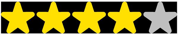 4 étoiles / 5