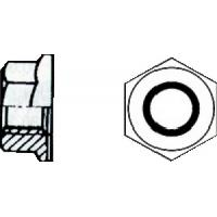 Écrous hexagonaux à embase crantée acier zingué blanc