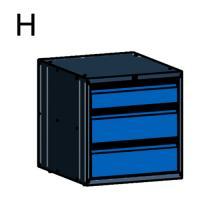 Caisson 3 tiroirs pour établis légers