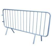 Barrières de police acier galvanisé