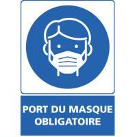 """Adhésif murs """"Port du masque obligatoire''"""