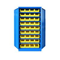 Armoire d'atelier à portes battantes avec bacs à bec - BLEU 5010