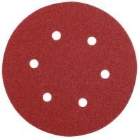 Abrasifs auto-agrippants pour ponceuses excentriques grains oxyde d'aluminium KP222 perforés 6 trous