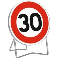 Panneau de limitation de vitesse temporaire B