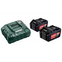 Pack énergie sans fil 18V 2 batteries 4Ah Li-Power + chargeur ASC 55