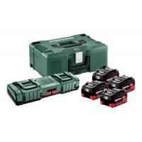 Pack énergie sans fil 18V 4 batteries 5,5Ah LiHD + chargeur ASC 145 duo X145