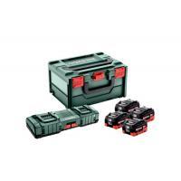 Pack énergie sans fil 18V 4 batteries 10Ah LiHD + chargeur ASC 145 duo coffret X X215