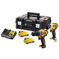 Kit 2 outils XR 12V perceuse visseuse percussion + visseuse à chocs 2 batteries 3Ah Li-ion - TSTAK - DCK2111L2T-QW