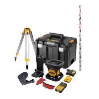 Niveau laser rotatif intérieur 18V - faisceau rouge - 1 batterie 2Ah Li-ion + chargeur - en coffret TSTAK - DCE074D1R-QW