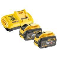 Pack 2 batteries XR Flexvolt 18V/54V 12Ah/4Ah Li-ion + chargeur rapide - DCB118Y2-QW