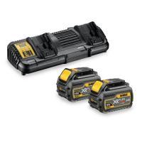 Pack 2 batteries XR Flexvolt 18V/54V 6Ah/2Ah Li-ion + chargeur double - DCB132T2-QW