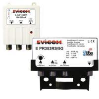 Kit préamplificateur UHF LTE 5G avec couplage SAT/VHF + alimentation 10 V