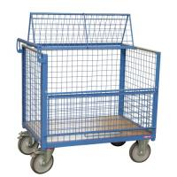 Chariot conteneur grillagé 500 kg avec toit