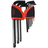 Jeu de 9 clés longues à têtes sphériques - 67AR9A