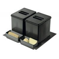 Poubelle pour tiroir 2 bacs - 2 x 12 litres