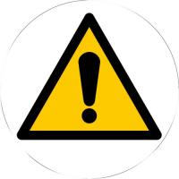 Triangles d'avertissement adhésifs au sol