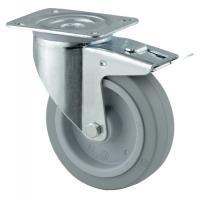 Roulettes pivotantes à blocage fixation à platine 3477 UFR