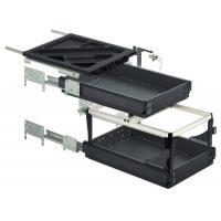 Kit caissons à tiroirs simples et dossiers suspendus Systema
