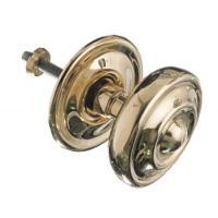 Boutons de porte ronds à moulures en laiton poli type 146-80