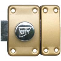 Verrou à bouton de sûreté S entrouvant par 2 - Huisserie bois City 25