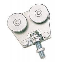 Roulette double à boulon pivotant pour porte coulissante sur profil tubulaire