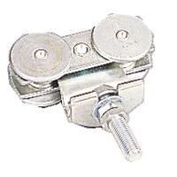 Roulettes à boulon doubles pour porte coulissante sur profil tubulaire