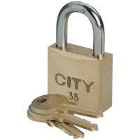 Cadenas à clé s'entrouvrant sur numéro suivi corps laiton anse acier cémenté City