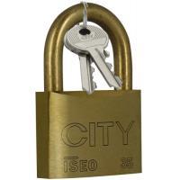 Cadenas à clés corps laiton anse laiton City