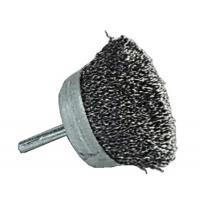 Brosses soucoupe acier sur tige de 6 mm