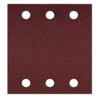 Abrasifs corindon perforés 6 trous pour ponceuse vibrante Bosch GSS140A