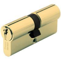 Cylindre double de sûreté - Profil européen s entrouvrant en Laiton poli - Série 7000