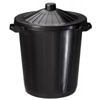 Poubelle plastique Réglisse 80 litres