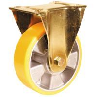 Roulette fixe sur platine roue althane pour charges lourdes - Fortainer
