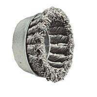 Brosses coniques acier torsadé pour meuleuses axe M14