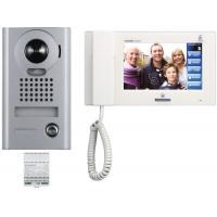 Portier vidéo résidentiel avec moniteur tactile, pose en applique, kit avec alimentation