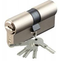 Cylindre double de sûreté - Profil européen s'entrouvrant en Laiton nickelé mat sur numéro AGL 697 - Série R6