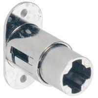 Serrure de meuble à pression à cylindre - pour cylindre interchangeable Z23 Ø18