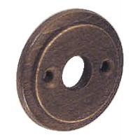 Rosaces rondes rustique bois/laiton