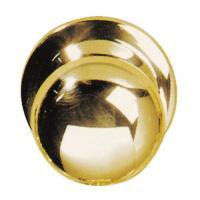 Bouton de porte rond fixe laiton poli verni 118/1