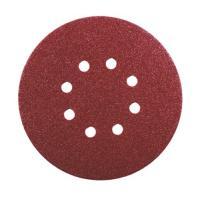 Abrasifs en disques papier corindon auto-agrippants perforés 8 trous KP508510 E