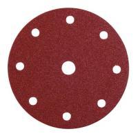 Abrasifs en disques papier corindon auto-agrippants perforés 9 trous KP508510 E