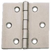 Charnières carrées simple feuille - acier décapé