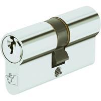 Cylindres doubles pour locaux communs sur ouverture centrale laiton nickelé, s'entrouvrants pour organigramme Sentinelle