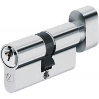 Cylindre à bouton pour locaux communs sur ouverture centrale laiton nickelé, s'entrouvrants pour organigramme Sentinelle