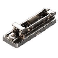 Plaques - pour charnières série 200 et série B - Montage droit à visser clipsable - en acier - sans vis