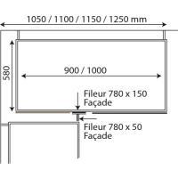 Kit pour caisson d'angle droit bas - hauteur 780 mm