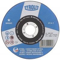 Disques à tronçonner moyeu plat gamme Basic pour l'acier/inox