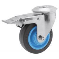 Roulette pivotante à blocage à oeil roue Résilex® pour charges moyennes - Gemroll